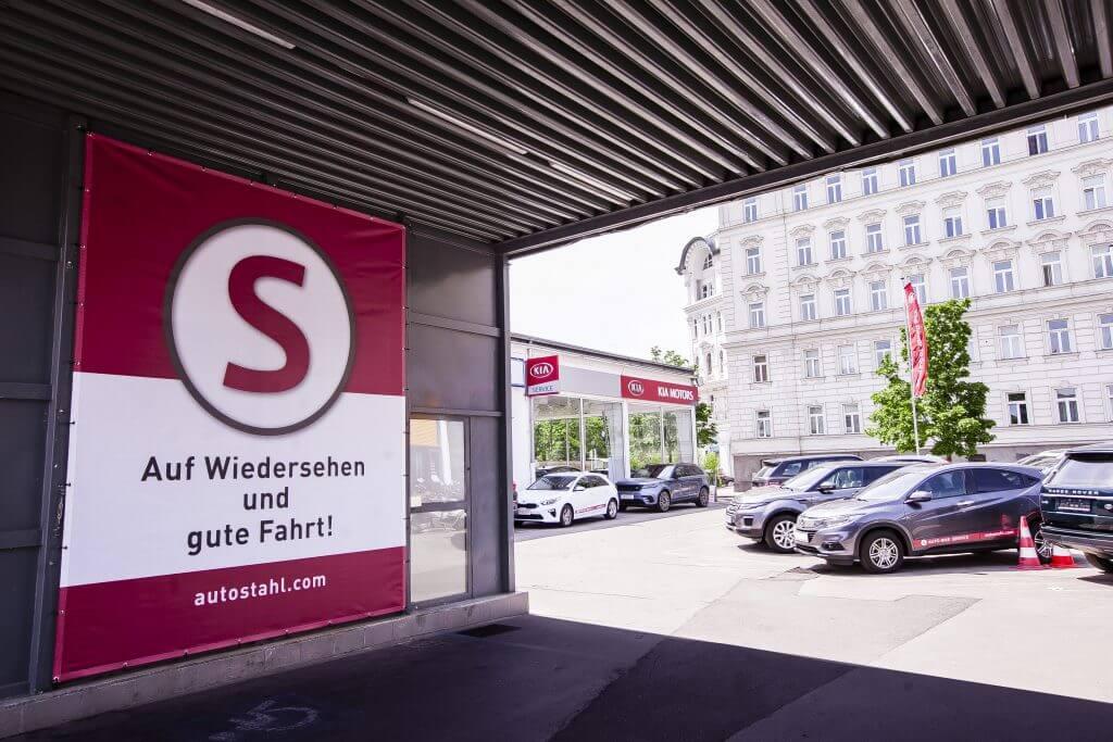Auto Stahl Standort Heistergasse 4-6, 1200 Wien Ansicht Einfahrt