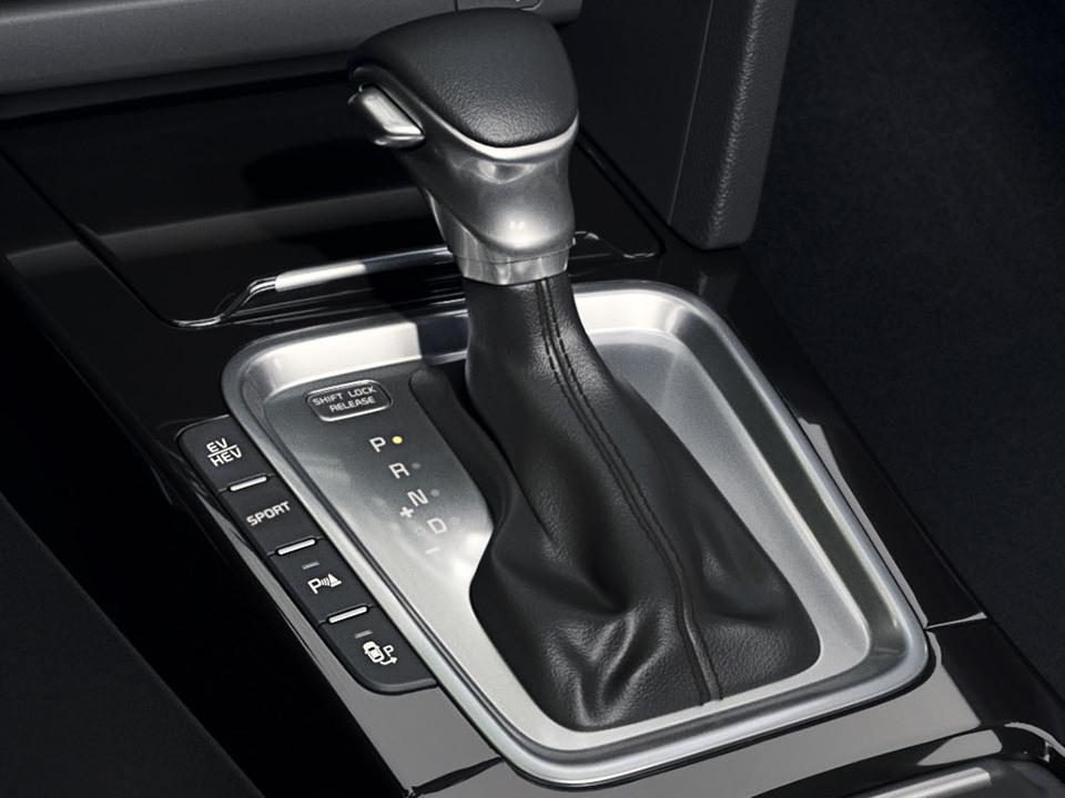 Kia XCeed Plug-in Hybrid bei Auto Stahl Innenansicht Schaltknauf
