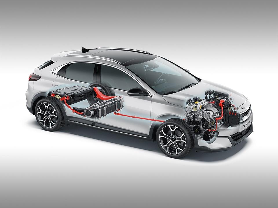 Kia XCeed Plug-in Hybrid bei Auto Stahl Technische Ansicht