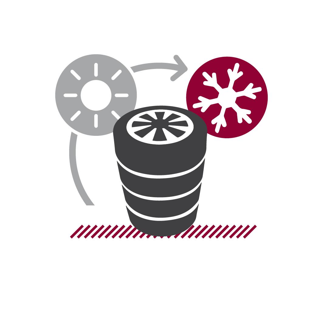 Icoon Serviceleistungen AUTO STAHL Räder umstecken