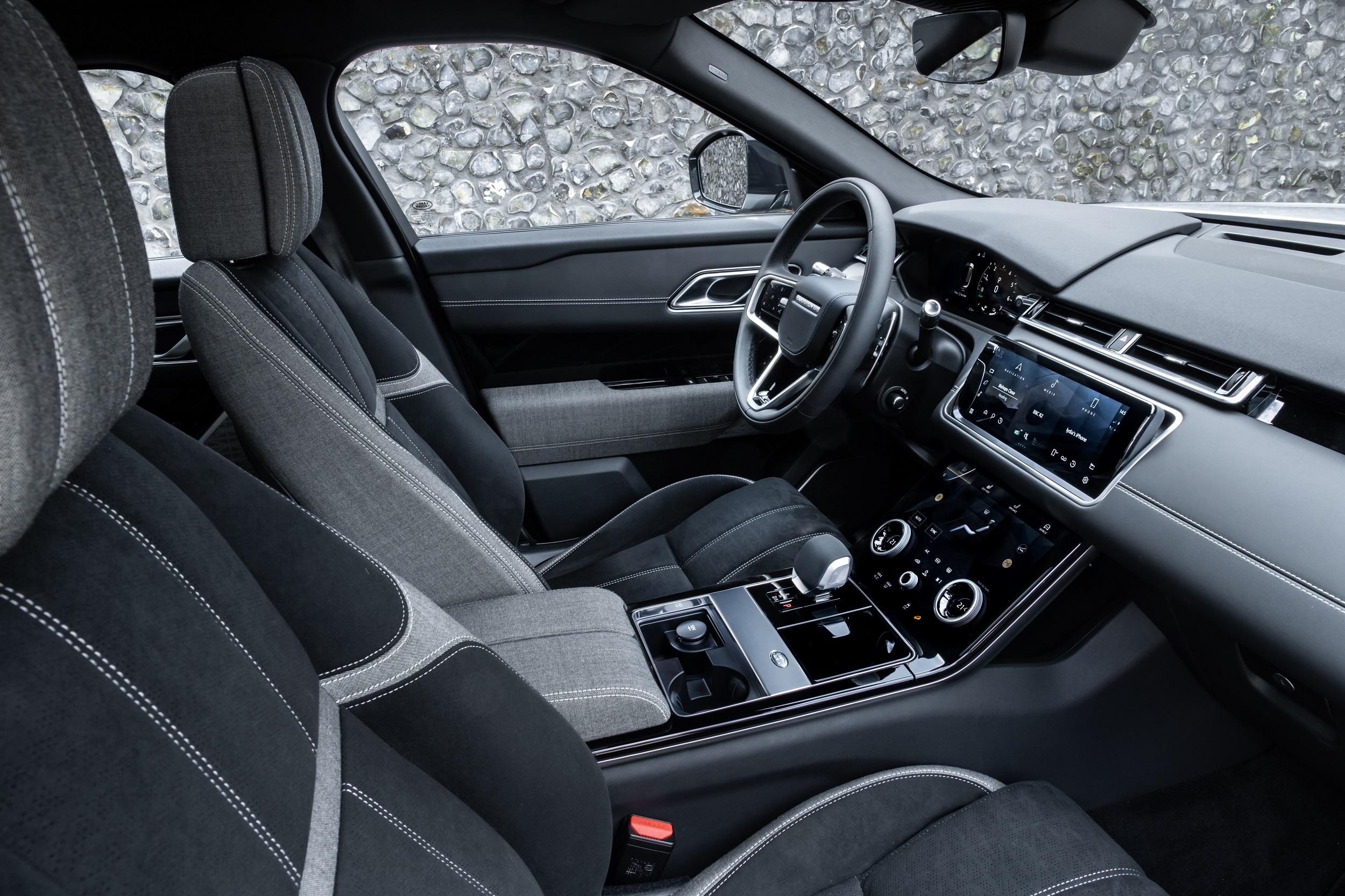 Auto Stahl der neue Range Rover Velar Innenansicht