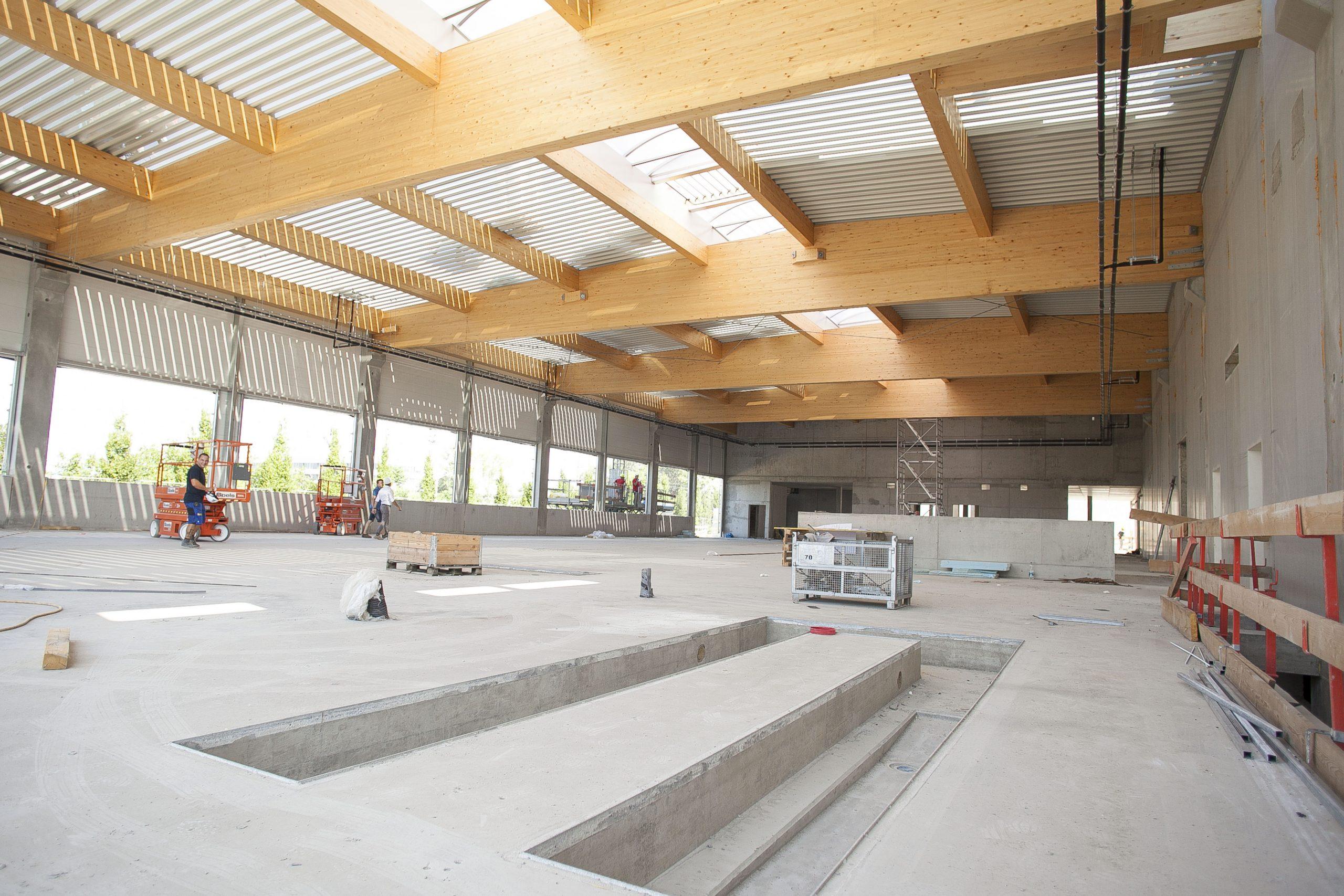 AUTO STAHL Wien 22 | Innenansicht der künftigen mechanischen Werkstätte | September 2020