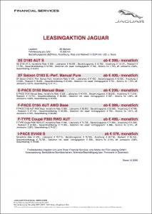 Aktionsleasing Jaguar Q4 bei AUTO STAHL