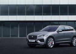 Auto Stahl der neue Jaguar F-Pace Seitenansicht
