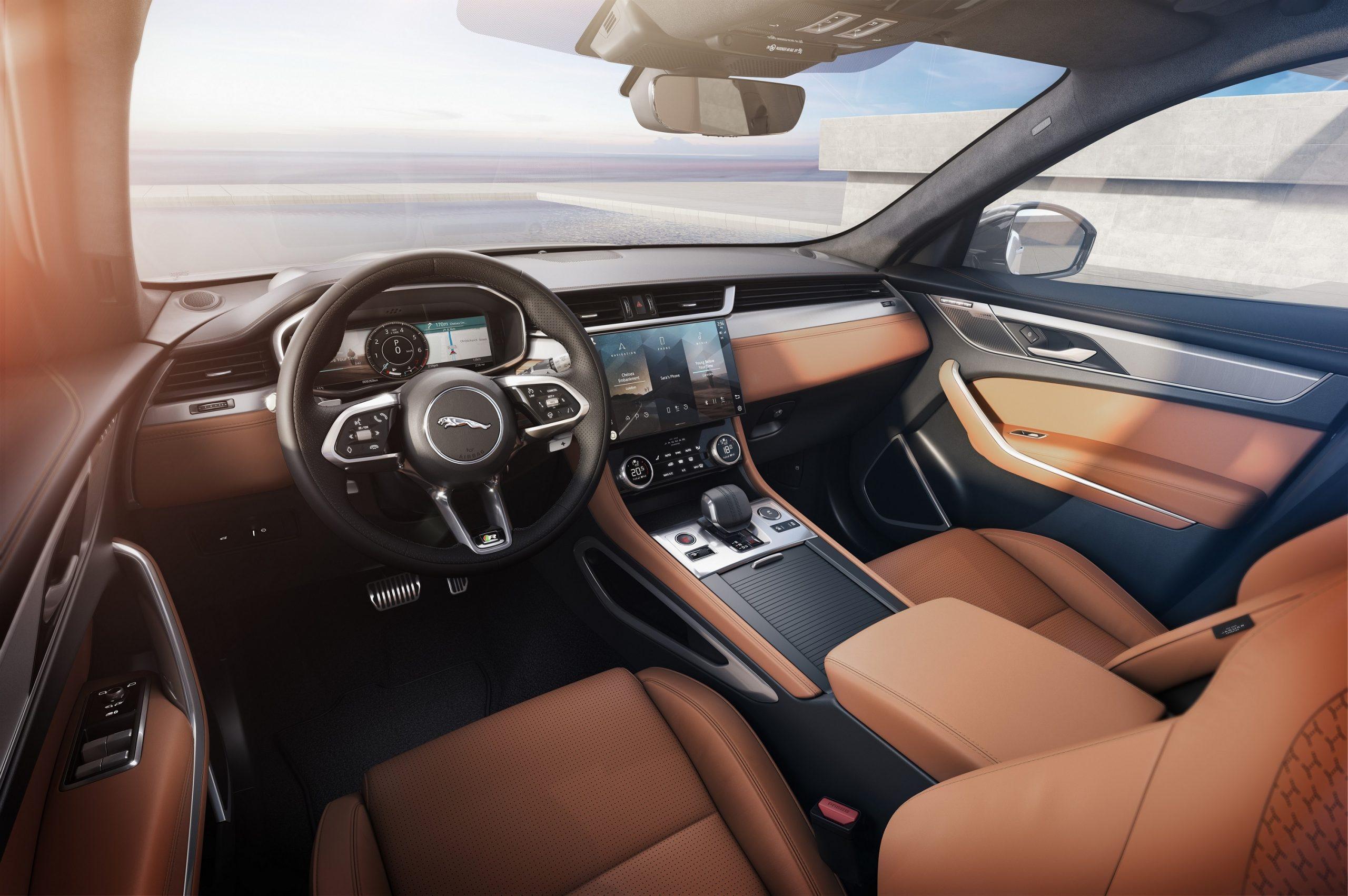 Auto Stahl der neue Jaguar F-Pace Innenansicht