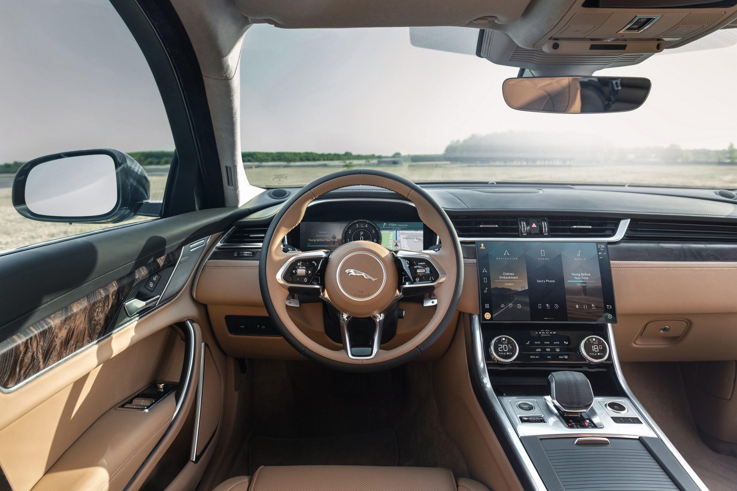 Auto Stahl der neue Jaguar XF Innenansicht
