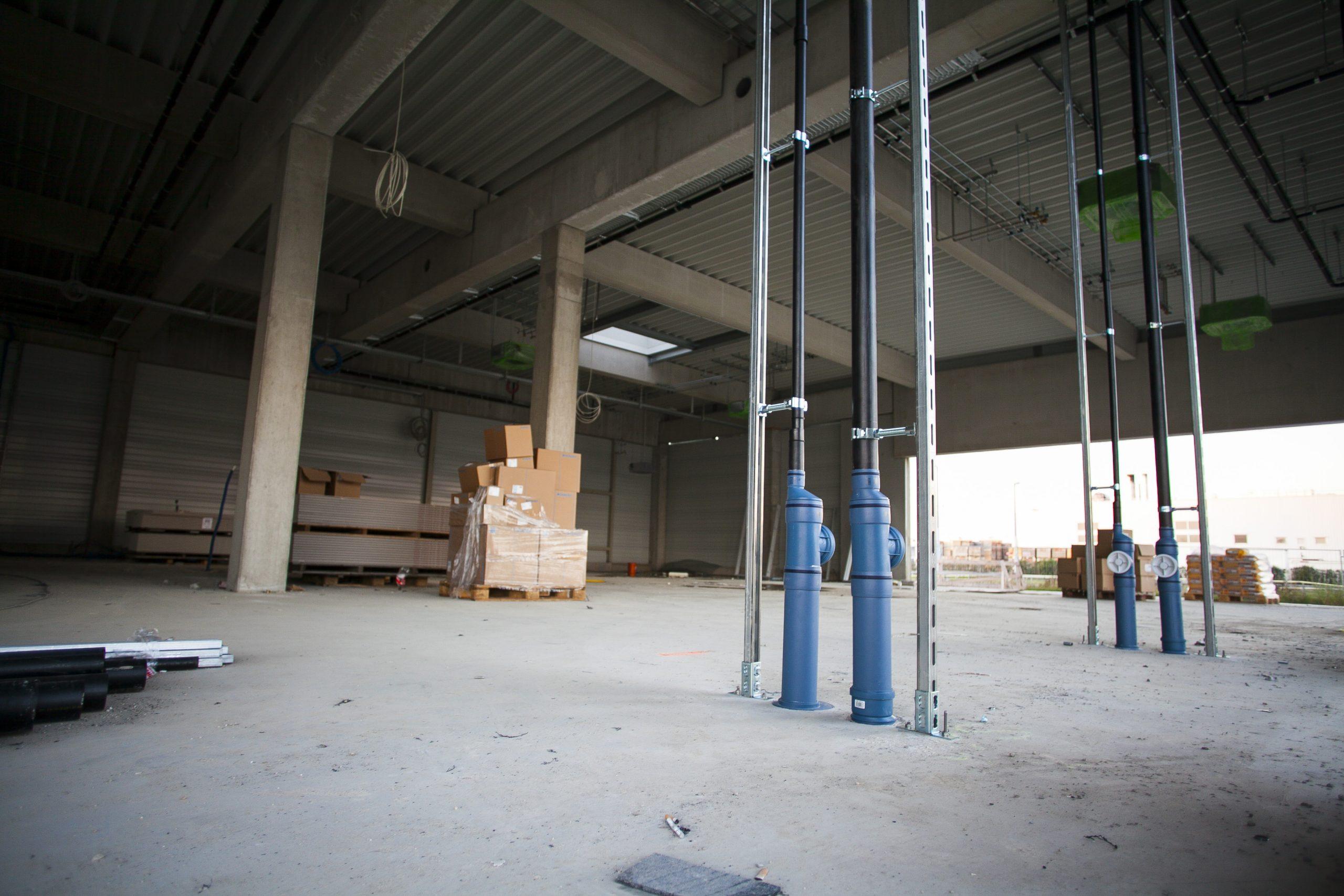 AUTO STAHL Wien 22 | Erste Installationsarbeiten Oktober 2020