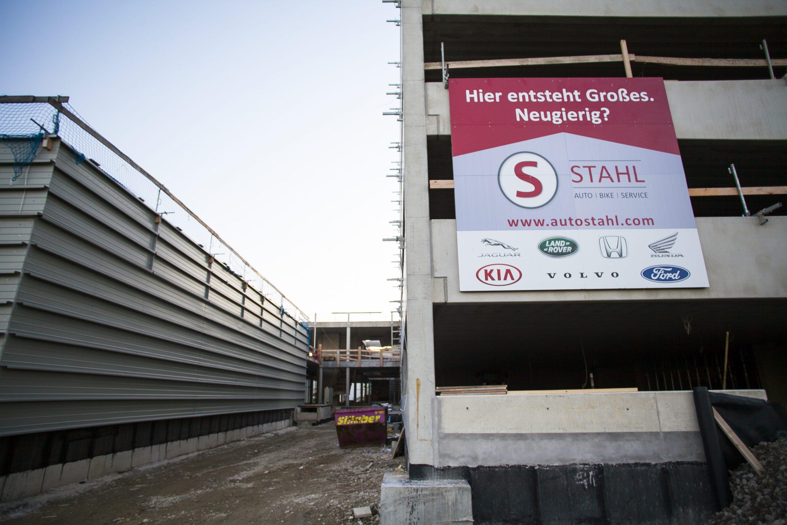AUTO STAHL Wien 22 | Baustellentafel| Oktober 2020