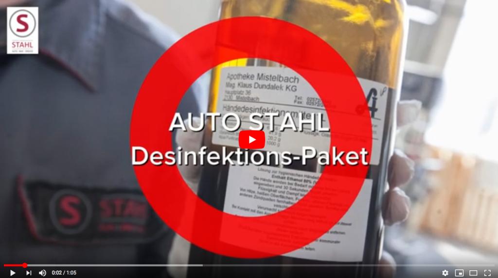 Videostandbild Desinfektionspakete