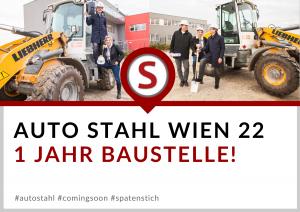 1 Jahr Baustelle Wien 22 – Spatenstich 2019