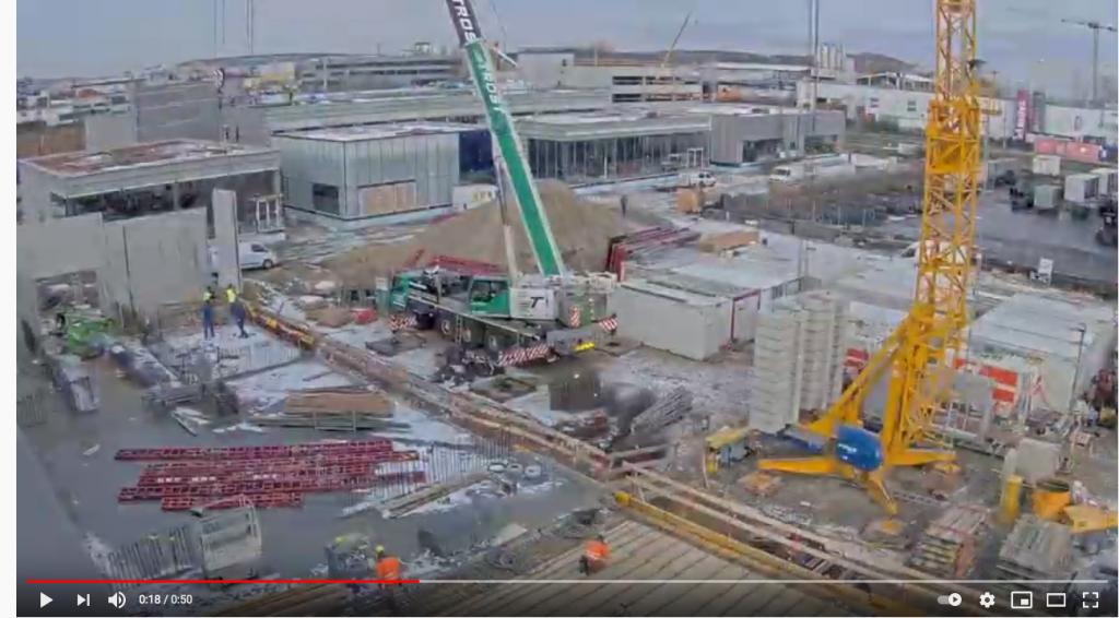 Standbild Baustellenkamera Zeitraffervideo Q1-4 2020