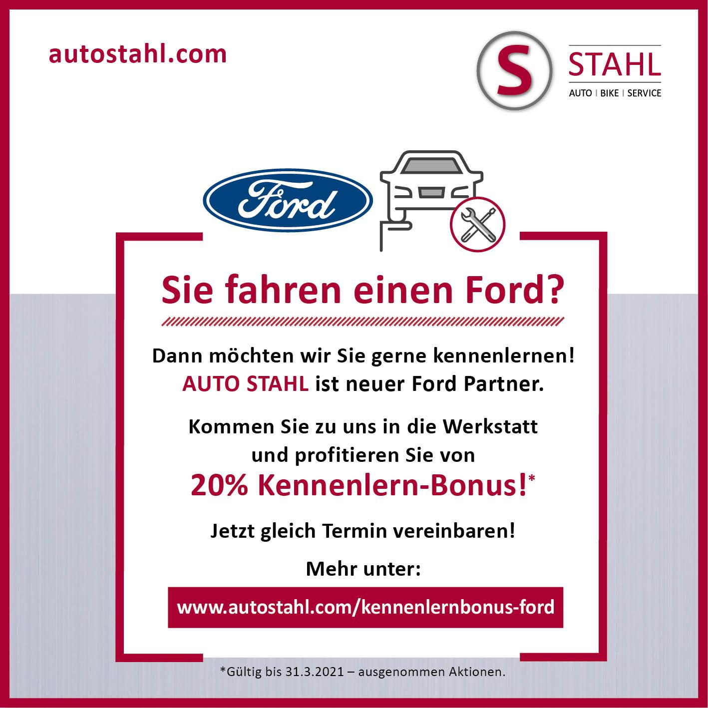 Sujet Ford Kennenlernbonus