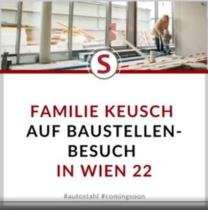 Familie Keusch auf Baustellenbesuch